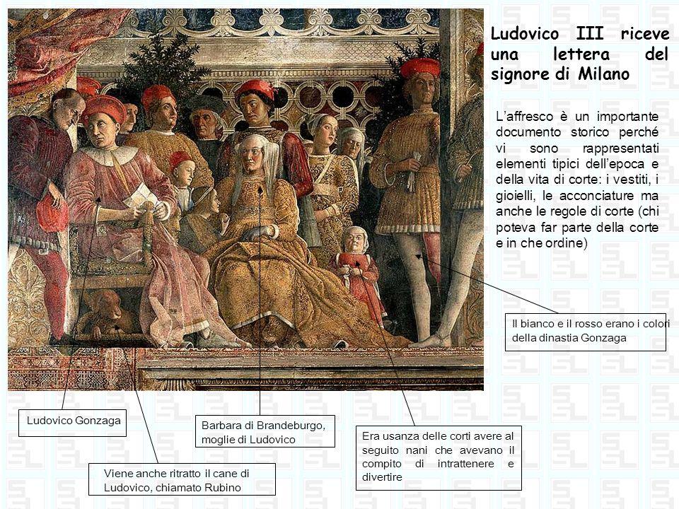 Ludovico III riceve una lettera del signore di Milano