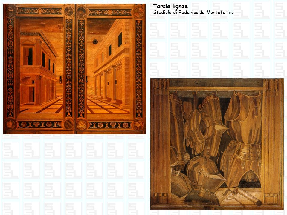 Tarsie lignee Studiolo di Federico da Montefeltro