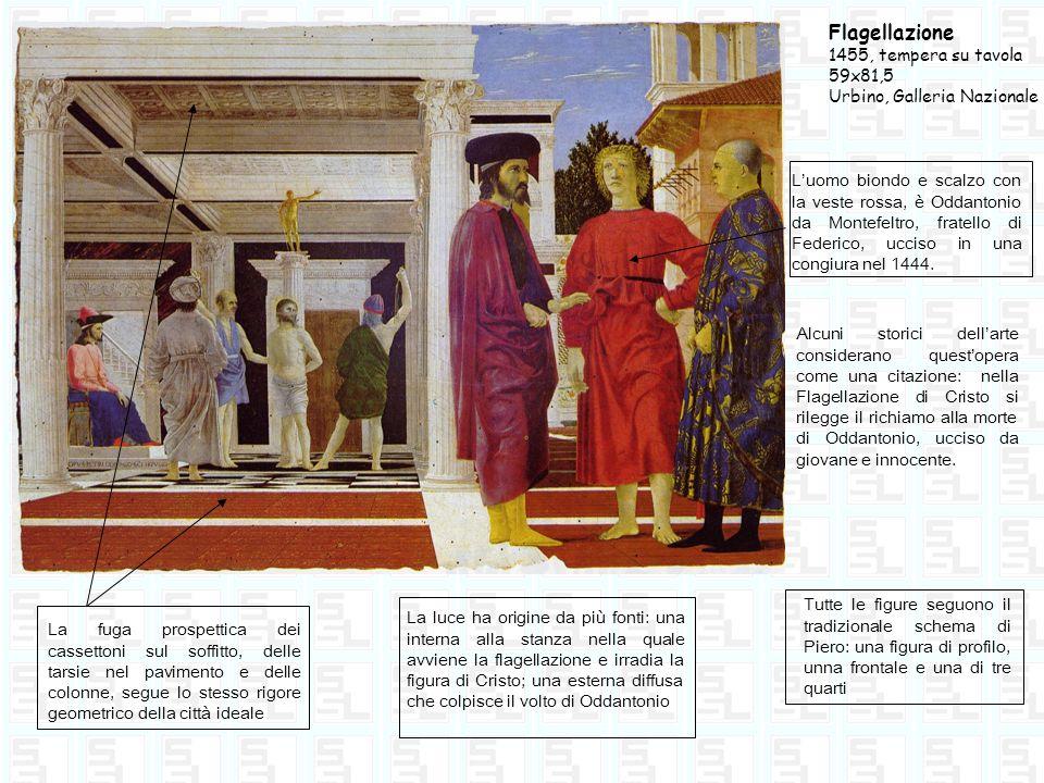 Flagellazione 1455, tempera su tavola 59x81,5