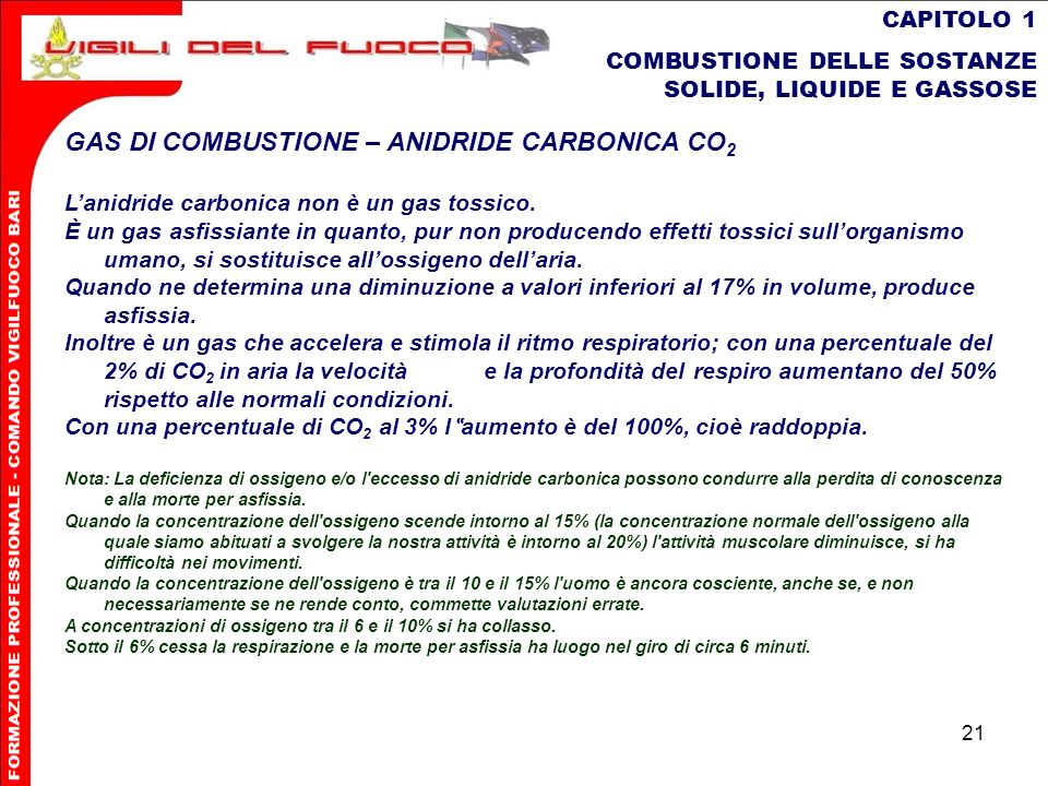 GAS DI COMBUSTIONE – ANIDRIDE CARBONICA CO2