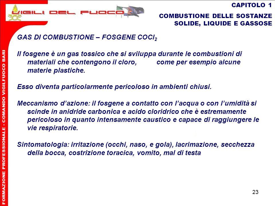 GAS DI COMBUSTIONE – FOSGENE COCl2