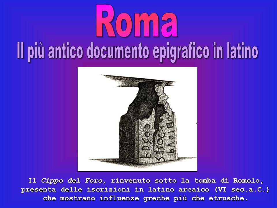 Il più antico documento epigrafico in latino