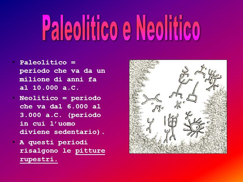 Paleolitico e Neolitico