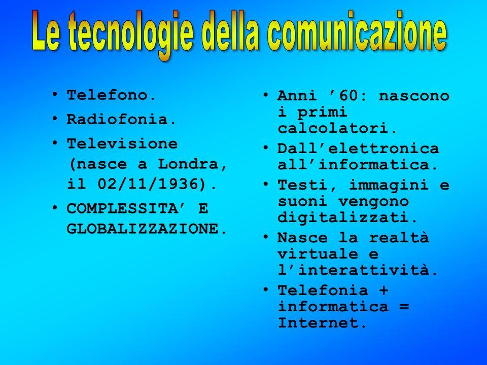 Le tecnologie della comunicazione