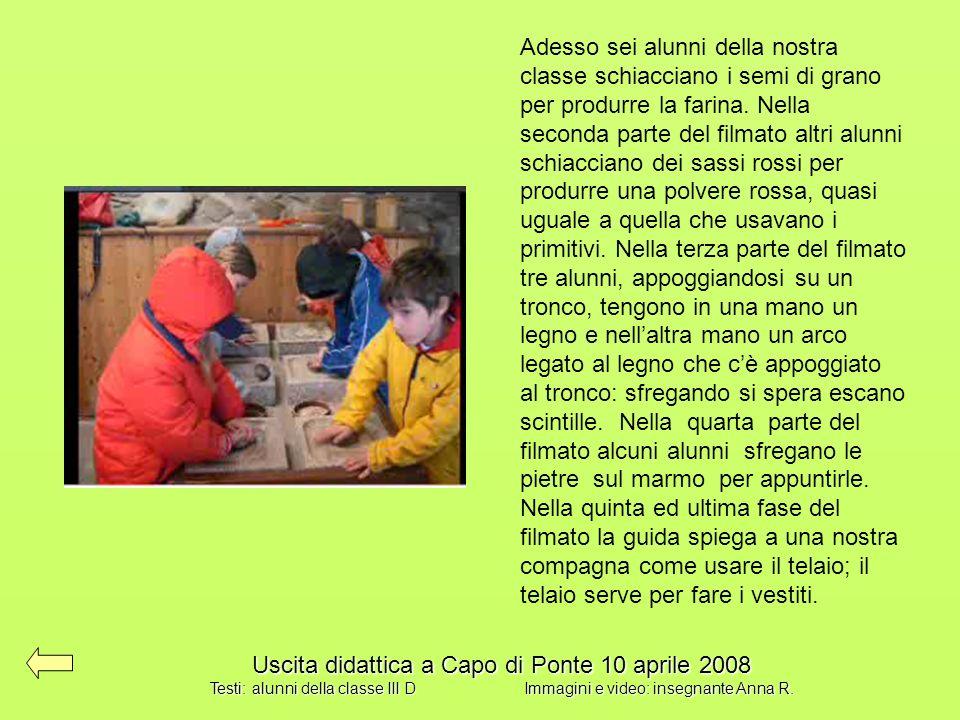 Uscita didattica a Capo di Ponte 10 aprile 2008