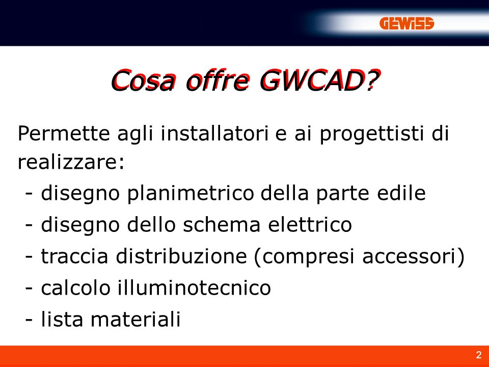A cosa serve gwcad e un software di semplice utilizzo for Software di piano planimetrico