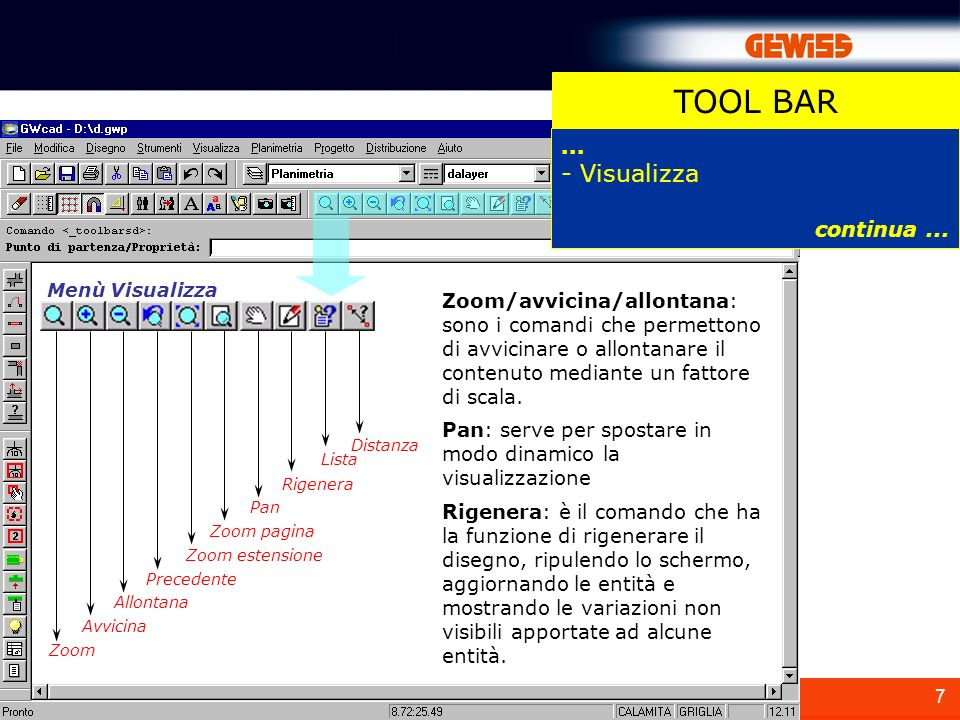 TOOL BAR - Visualizza ... continua ...