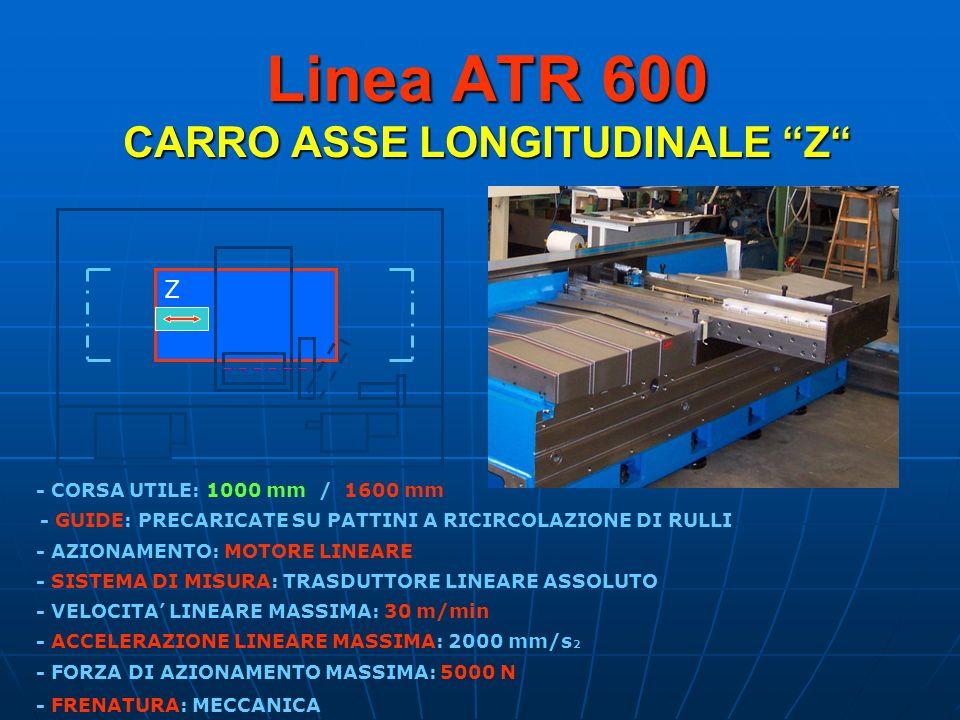 Linea ATR 600 CARRO ASSE LONGITUDINALE Z