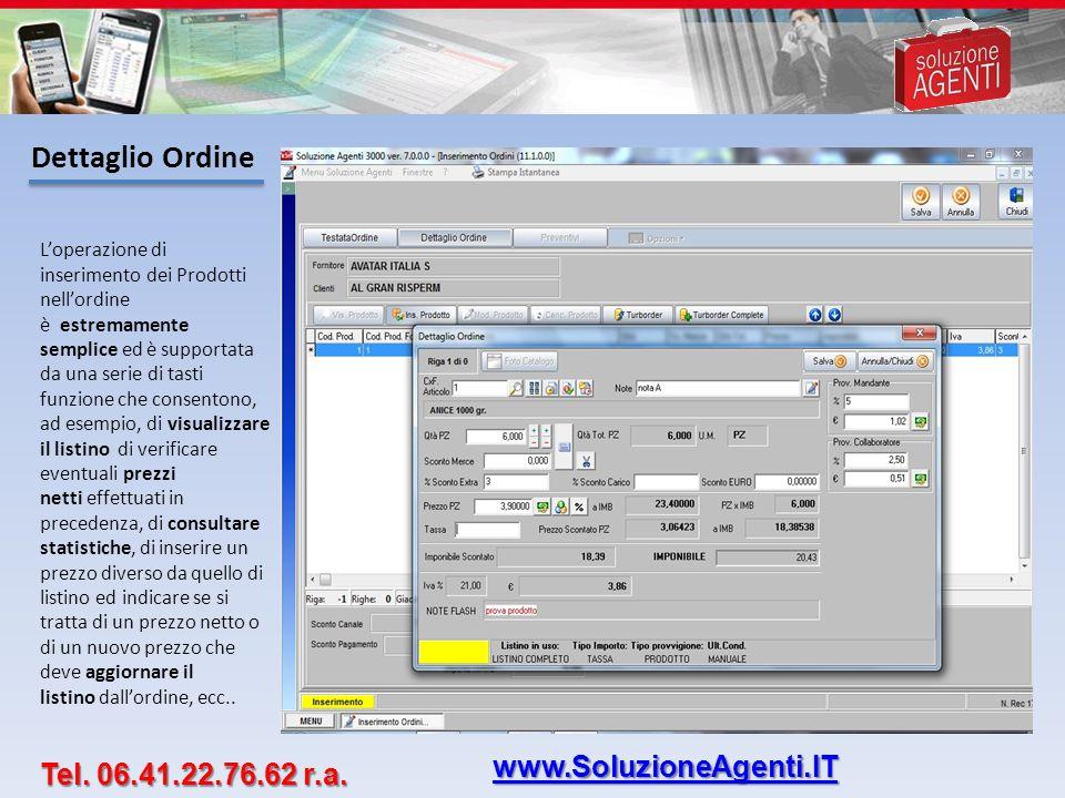 Dettaglio Ordine www.SoluzioneAgenti.IT Tel. 06.41.22.76.62 r.a.