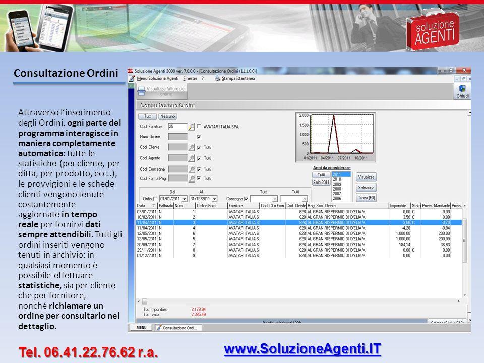 www.SoluzioneAgenti.IT Tel. 06.41.22.76.62 r.a. Consultazione Ordini