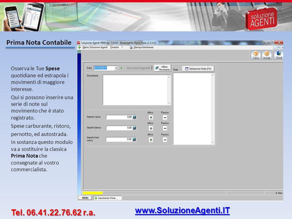 www.SoluzioneAgenti.IT Tel. 06.41.22.76.62 r.a. Prima Nota Contabile