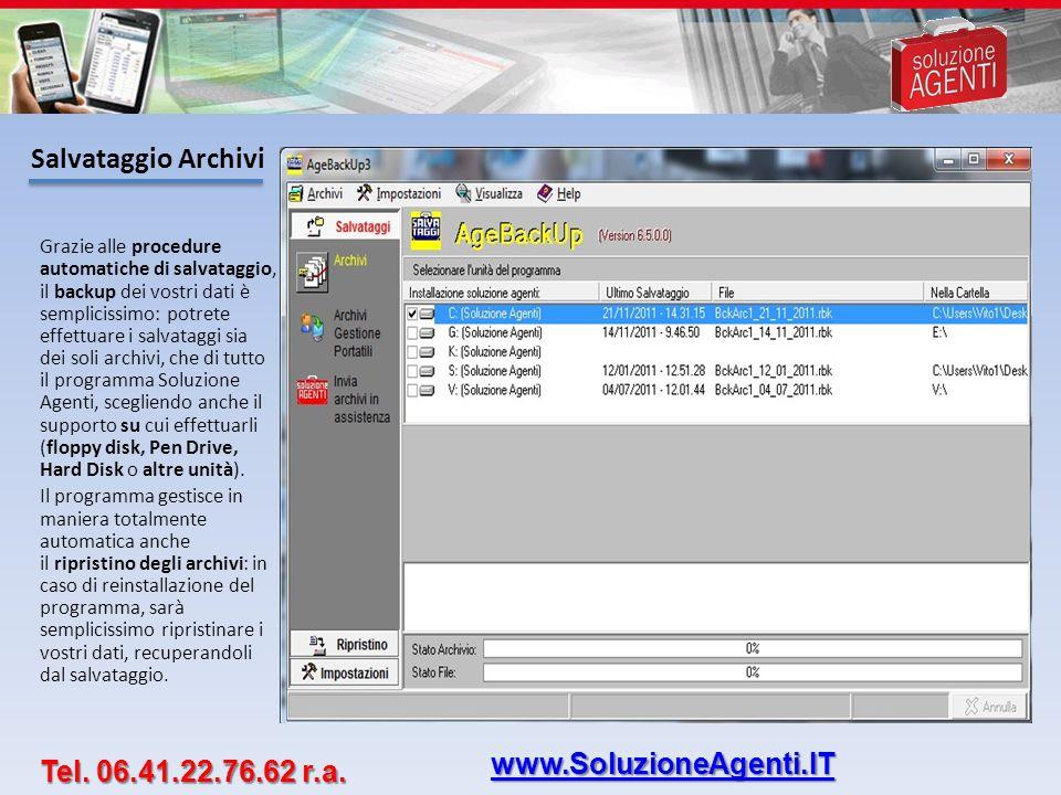 Salvataggio Archivi www.SoluzioneAgenti.IT Tel. 06.41.22.76.62 r.a.