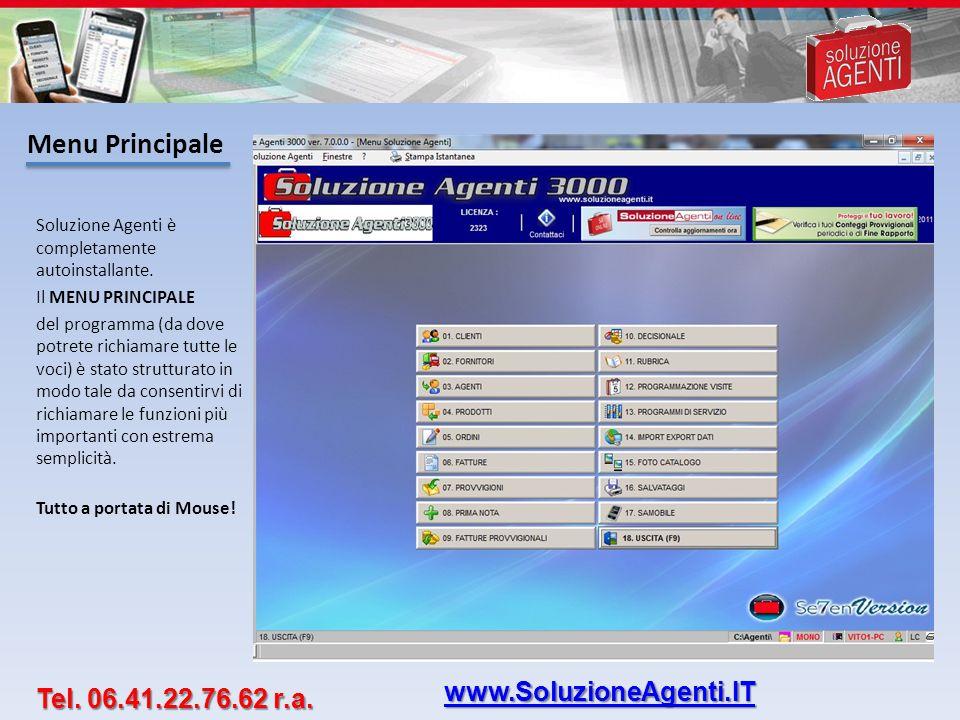 Menu Principale www.SoluzioneAgenti.IT Tel. 06.41.22.76.62 r.a.