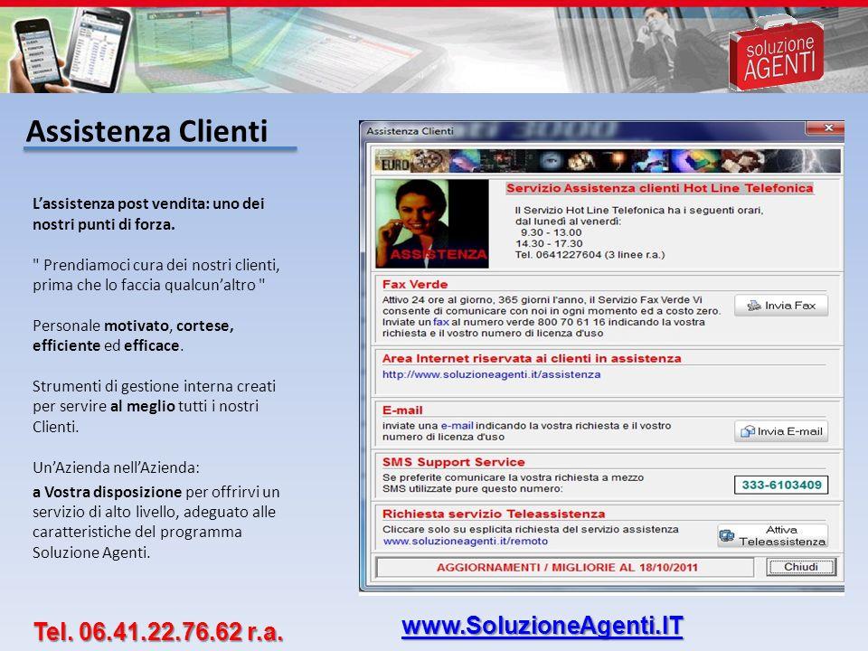 Assistenza Clienti www.SoluzioneAgenti.IT Tel. 06.41.22.76.62 r.a.