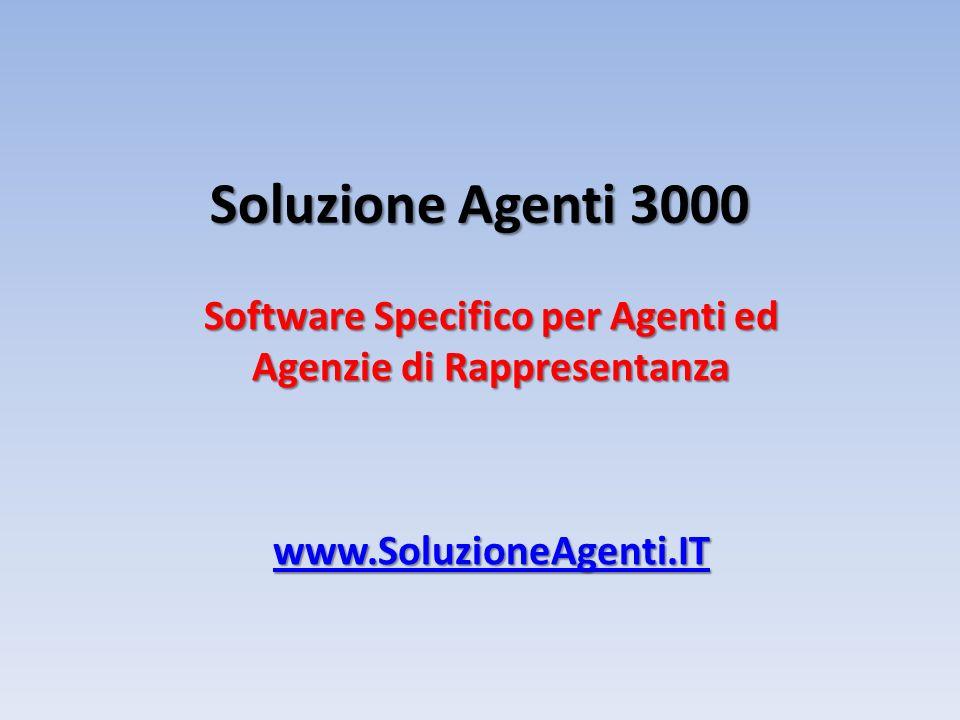 Software Specifico per Agenti ed Agenzie di Rappresentanza
