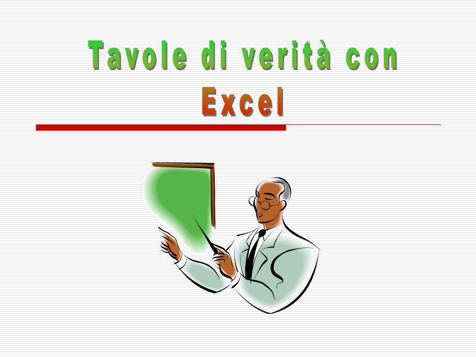 Tavole di verità con Excel