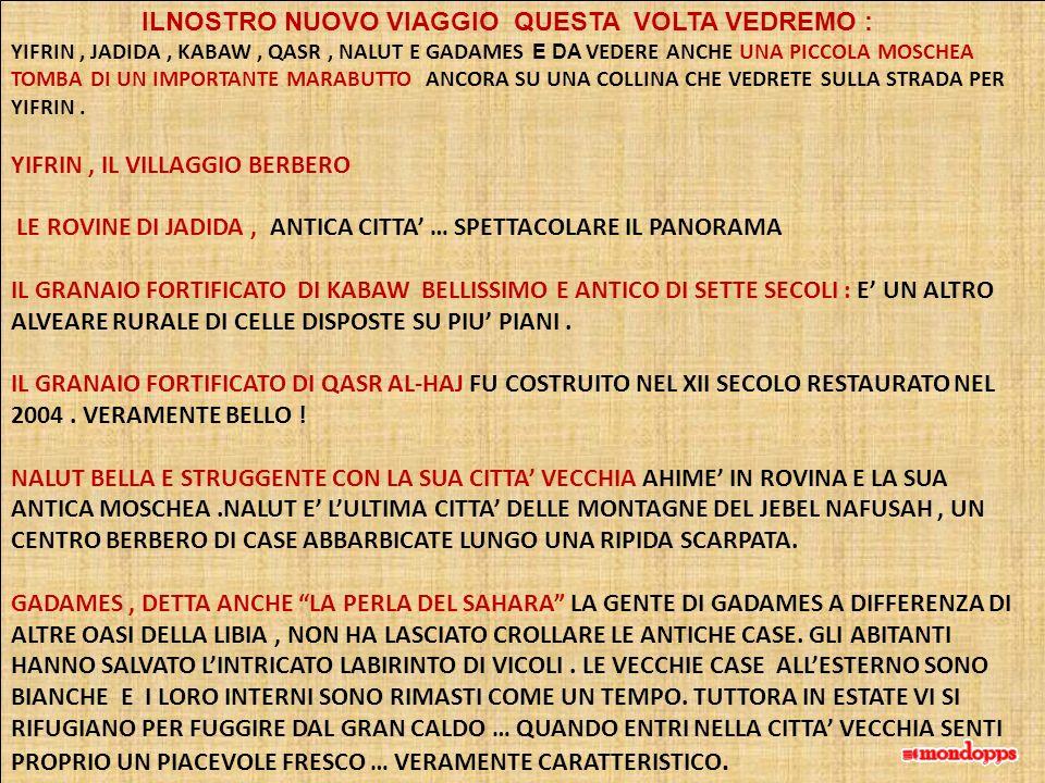 YIFRIN , IL VILLAGGIO BERBERO