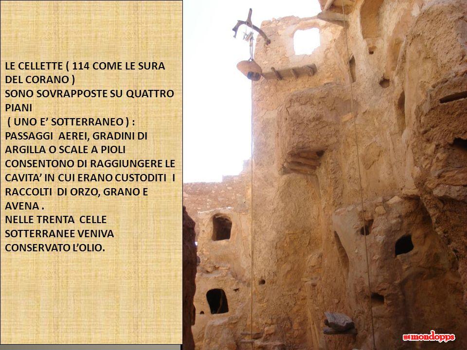 LE CELLETTE ( 114 COME LE SURA DEL CORANO )