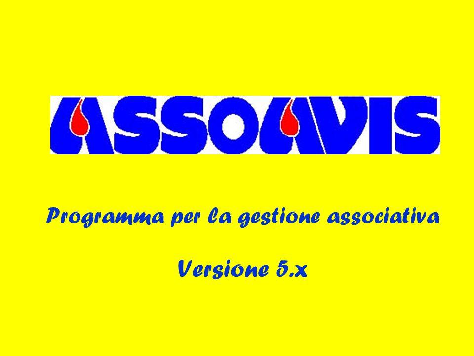 Programma per la gestione associativa Versione 5.x