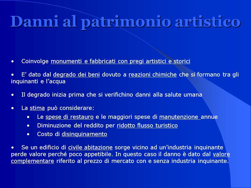Danni al patrimonio artistico