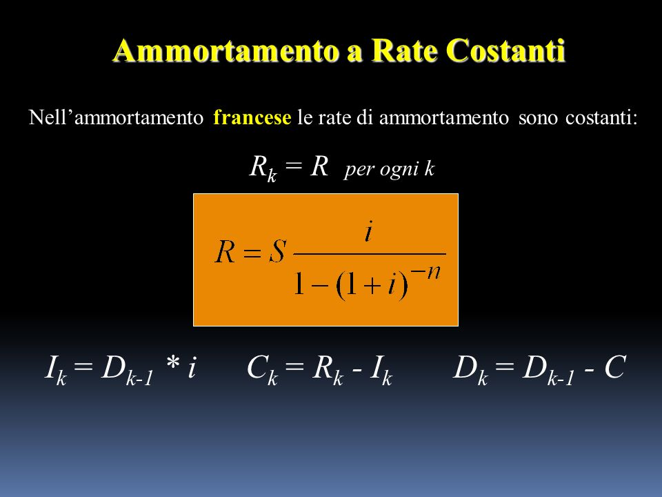Ammortamento a Rate Costanti