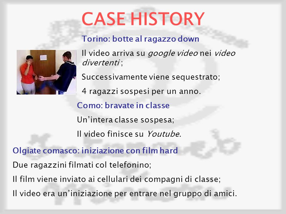 CASE HISTORY Torino: botte al ragazzo down