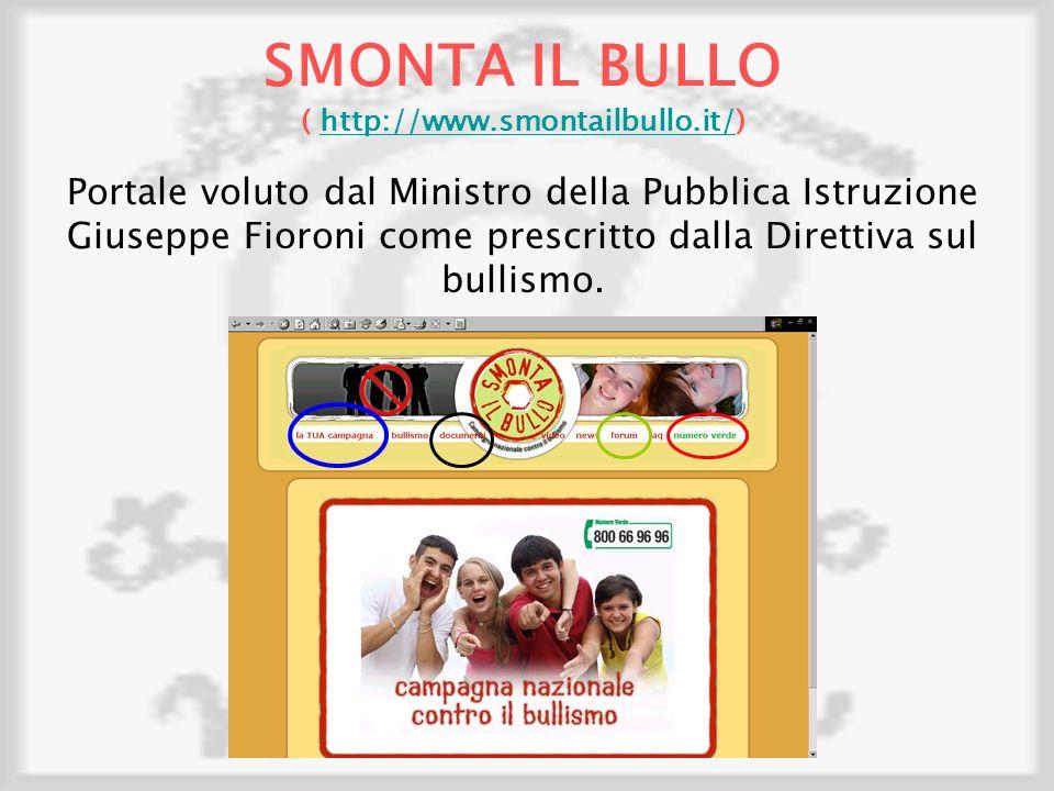 SMONTA IL BULLO ( http://www.smontailbullo.it/)
