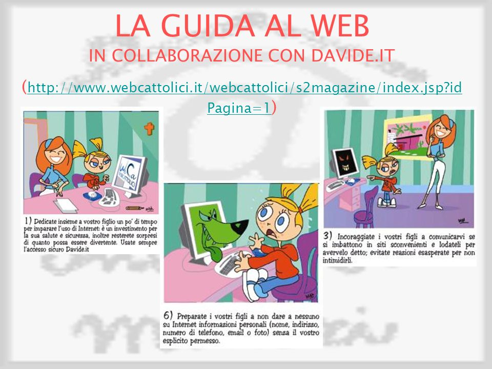 LA GUIDA AL WEB IN COLLABORAZIONE CON DAVIDE.IT
