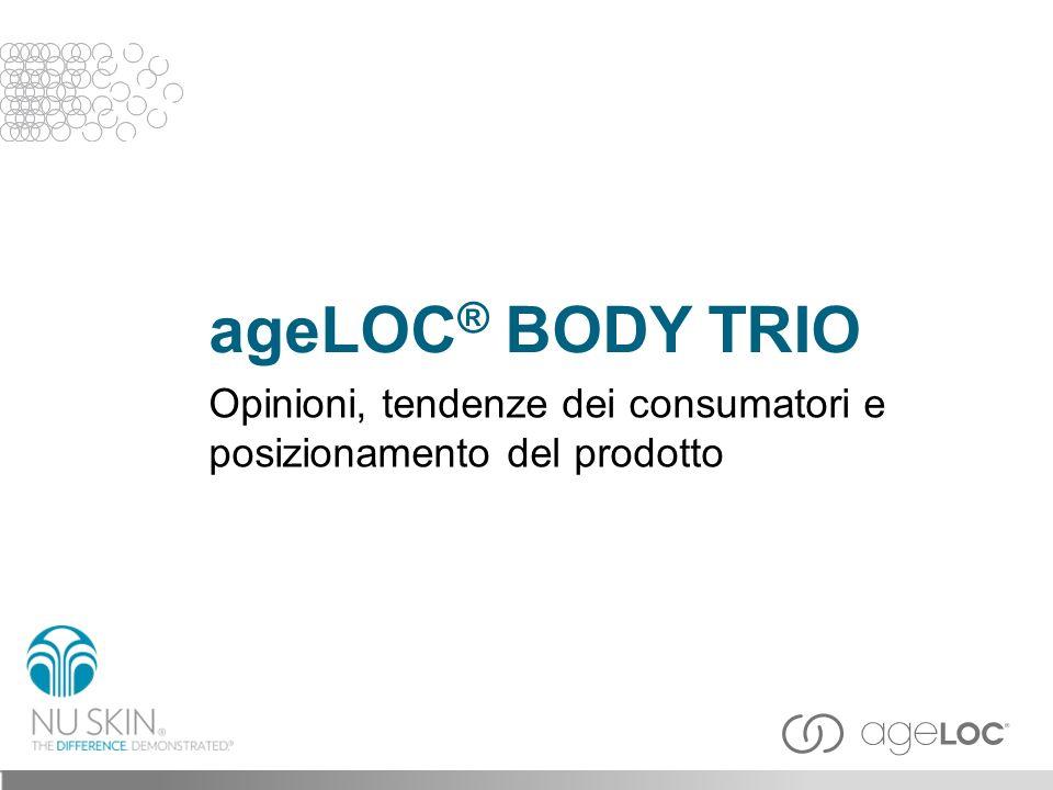 ageLOC® BODY TRIO Opinioni, tendenze dei consumatori e posizionamento del prodotto Titolo slide