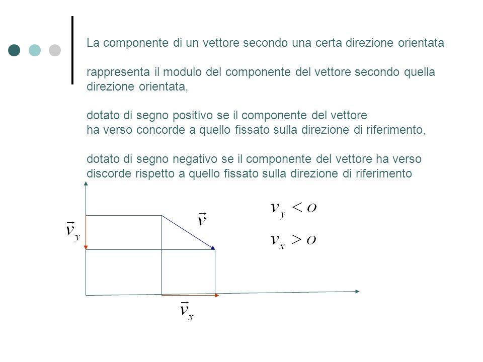 La componente di un vettore secondo una certa direzione orientata