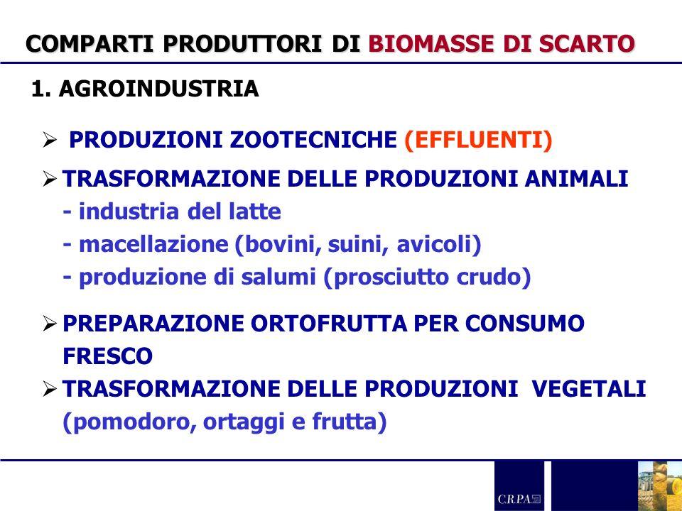COMPARTI PRODUTTORI DI BIOMASSE DI SCARTO