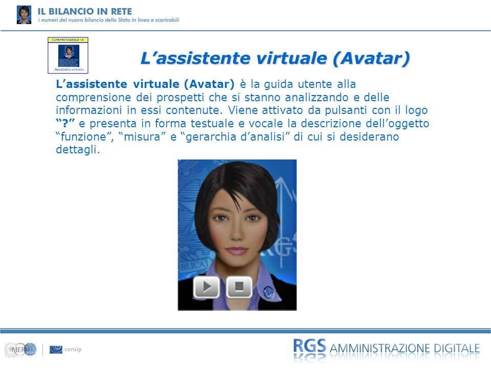 L'assistente virtuale (Avatar)