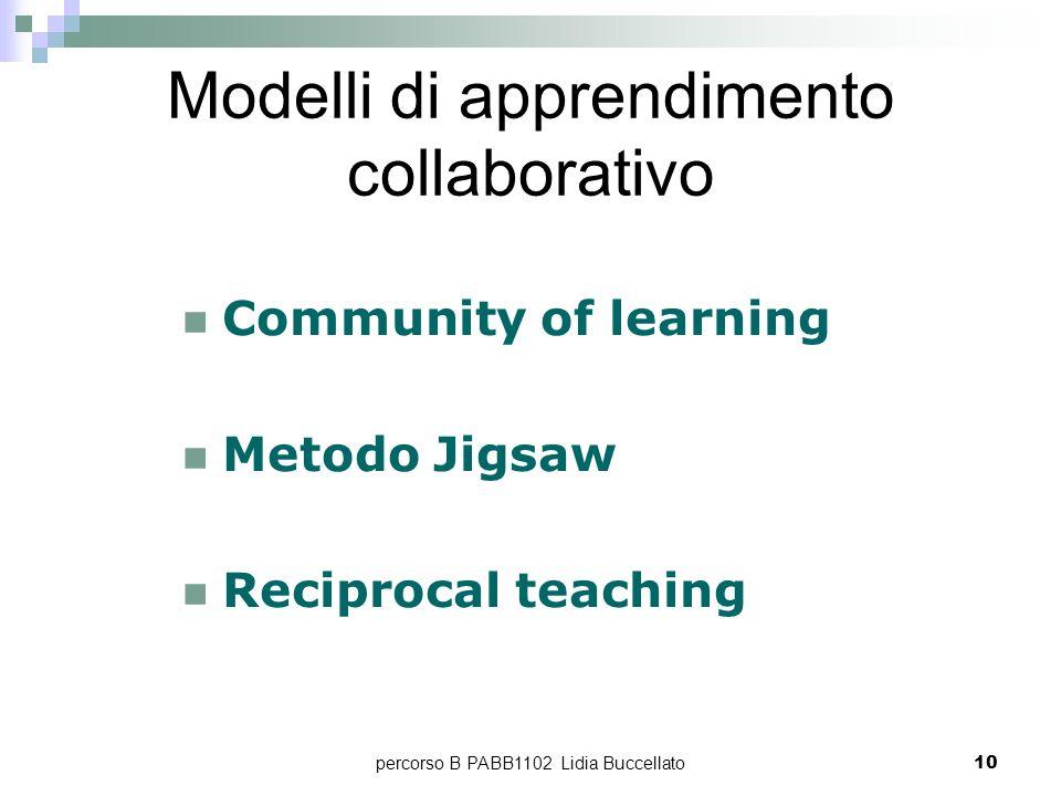 Modelli di apprendimento collaborativo