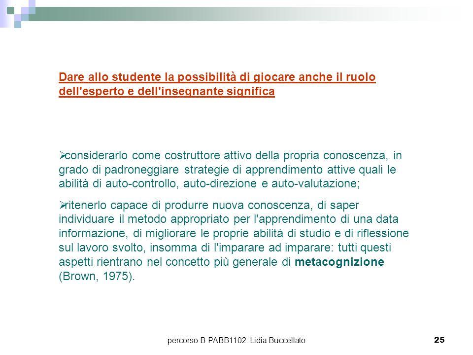 percorso B PABB1102 Lidia Buccellato