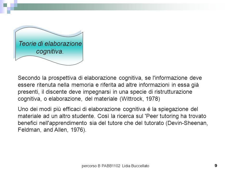Teorie di elaborazione cognitiva.