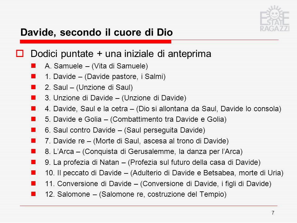Davide, secondo il cuore di Dio
