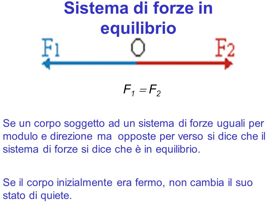 Sistema di forze in equilibrio