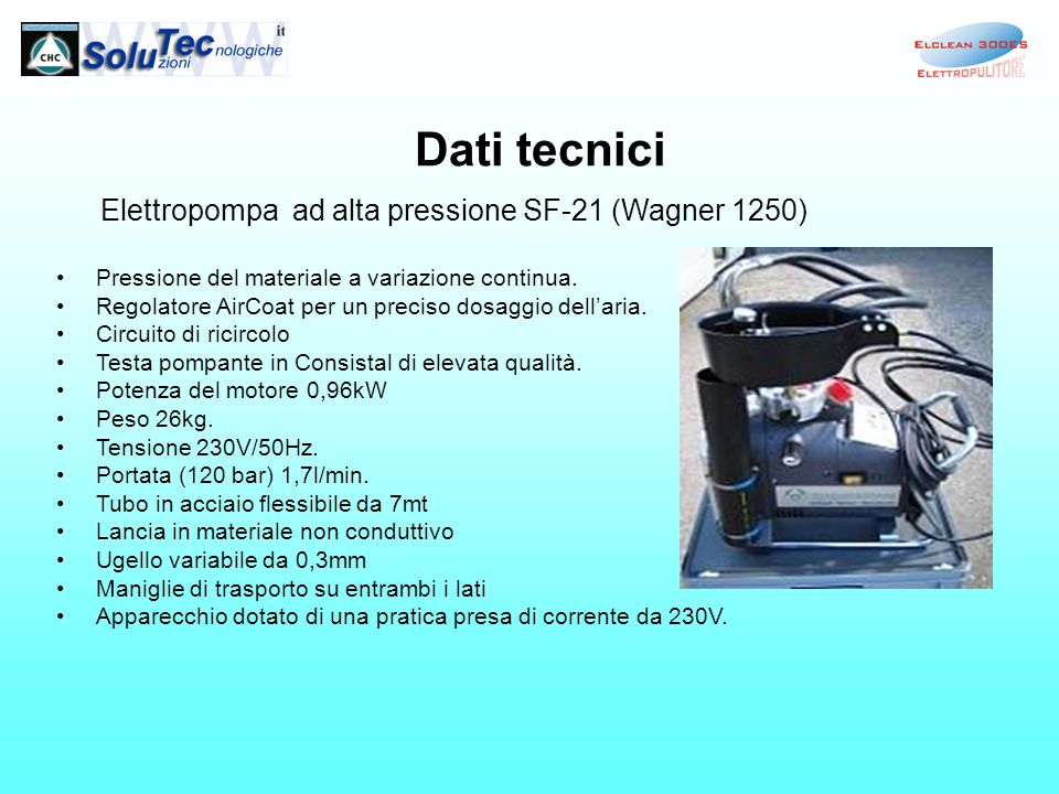 Elettropompa ad alta pressione SF-21 (Wagner 1250)