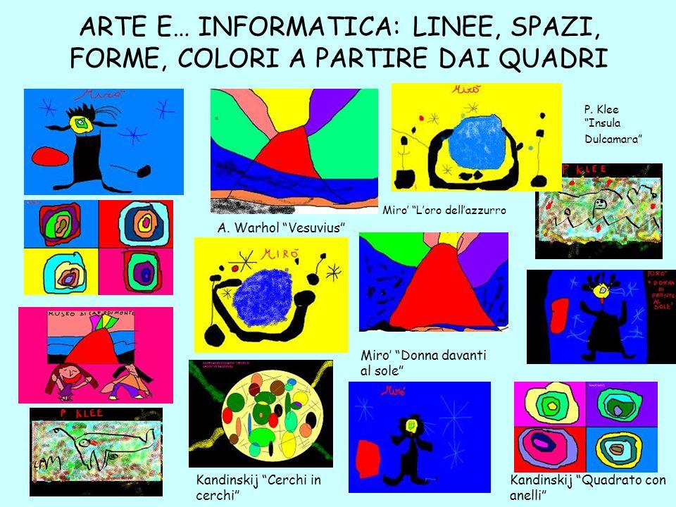 ARTE E… INFORMATICA: LINEE, SPAZI, FORME, COLORI A PARTIRE DAI QUADRI