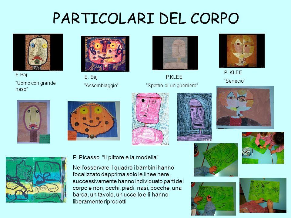PARTICOLARI DEL CORPO P. Picasso Il pittore e la modella
