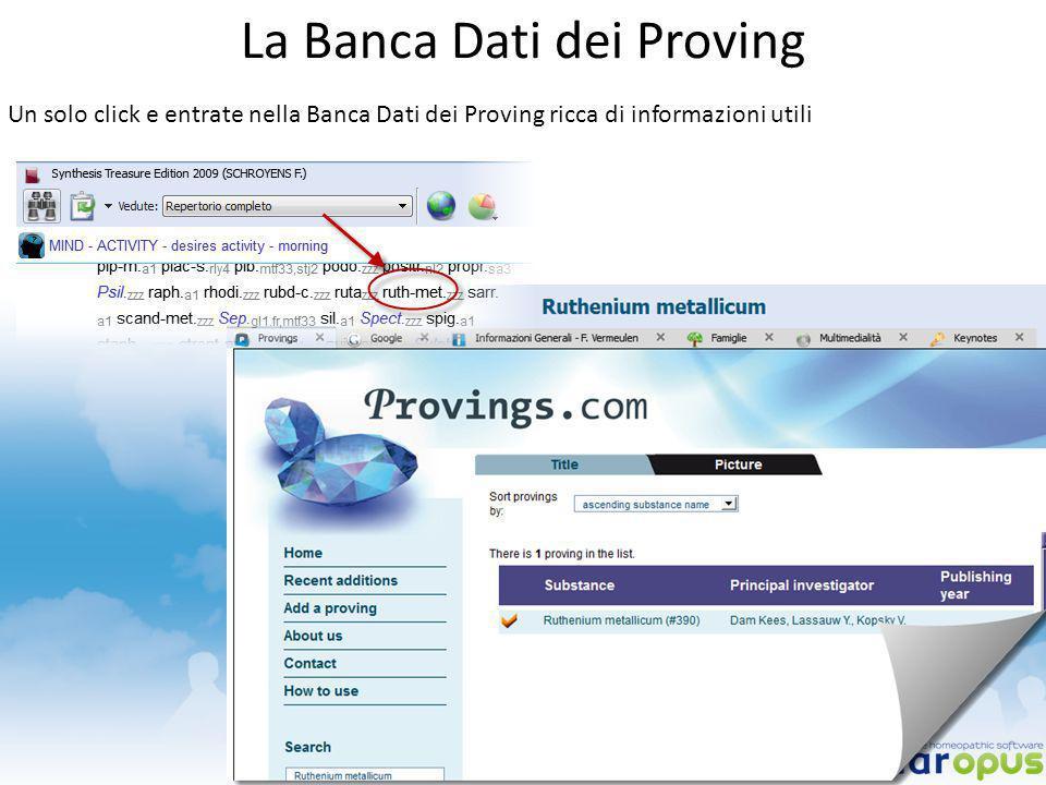 La Banca Dati dei Proving