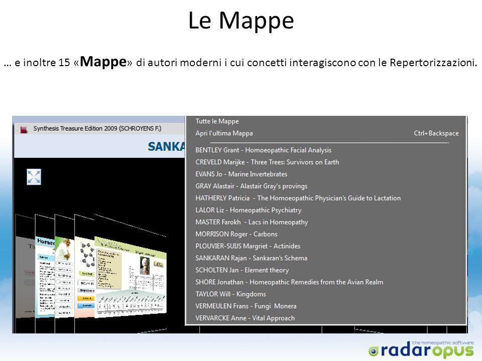 Le Mappe … e inoltre 15 «Mappe» di autori moderni i cui concetti interagiscono con le Repertorizzazioni.