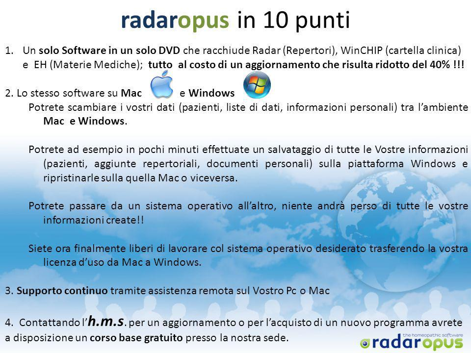 radaropus in 10 punti