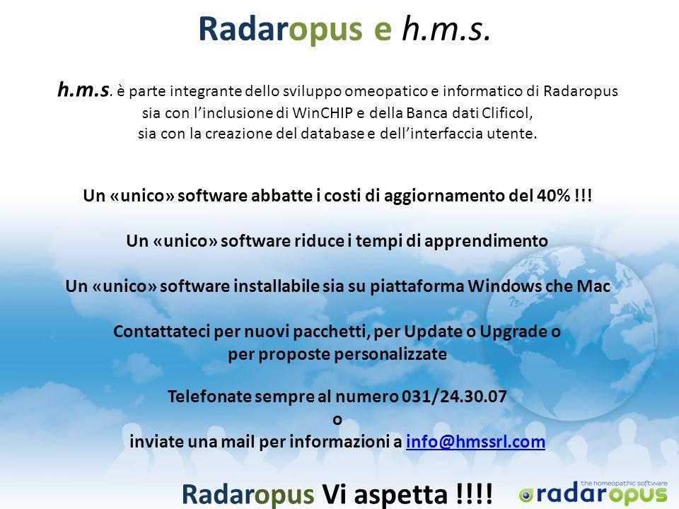 Radaropus e h.m.s. Radaropus Vi aspetta !!!!