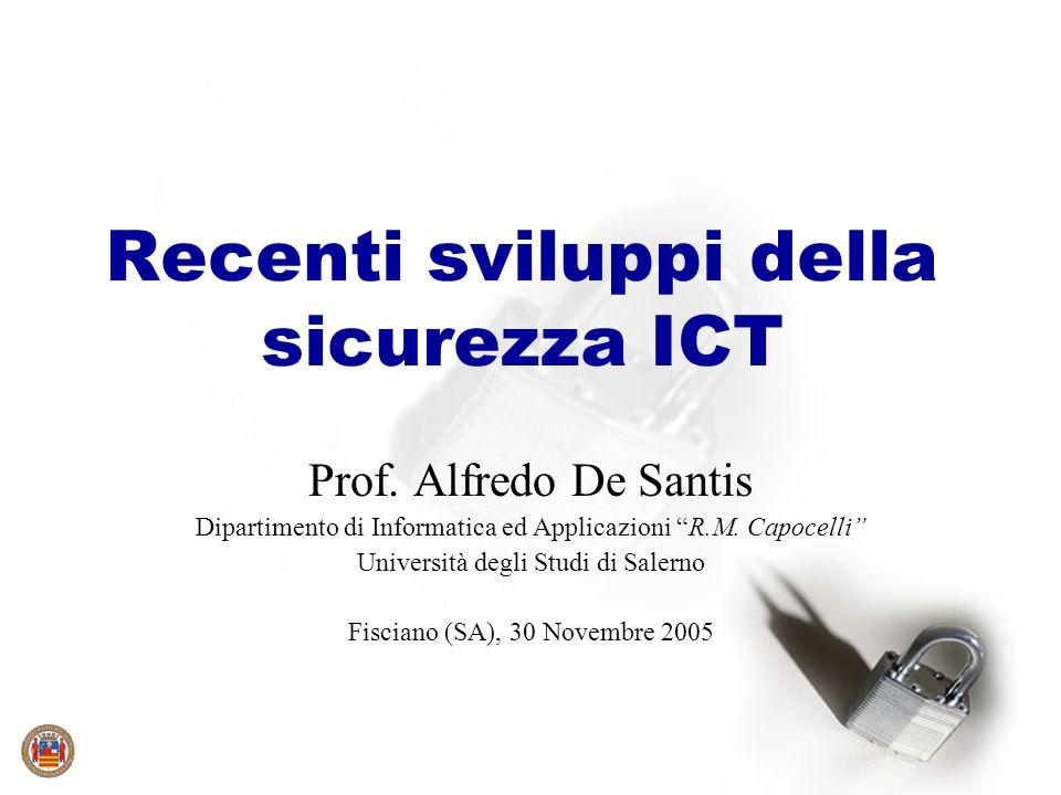 Recenti sviluppi della sicurezza ICT