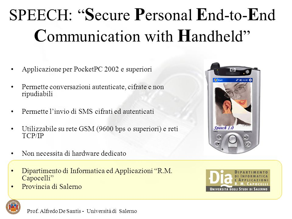 SPEECH: Secure Personal End-to-End Communication with Handheld