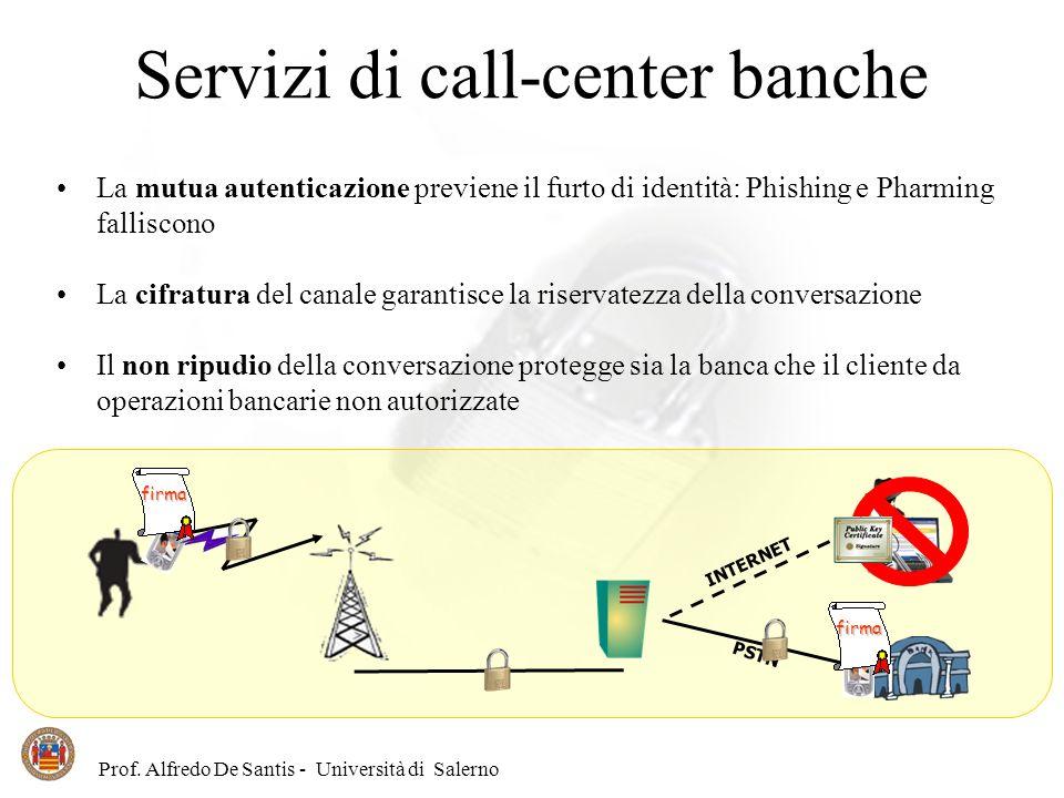 Servizi di call-center banche
