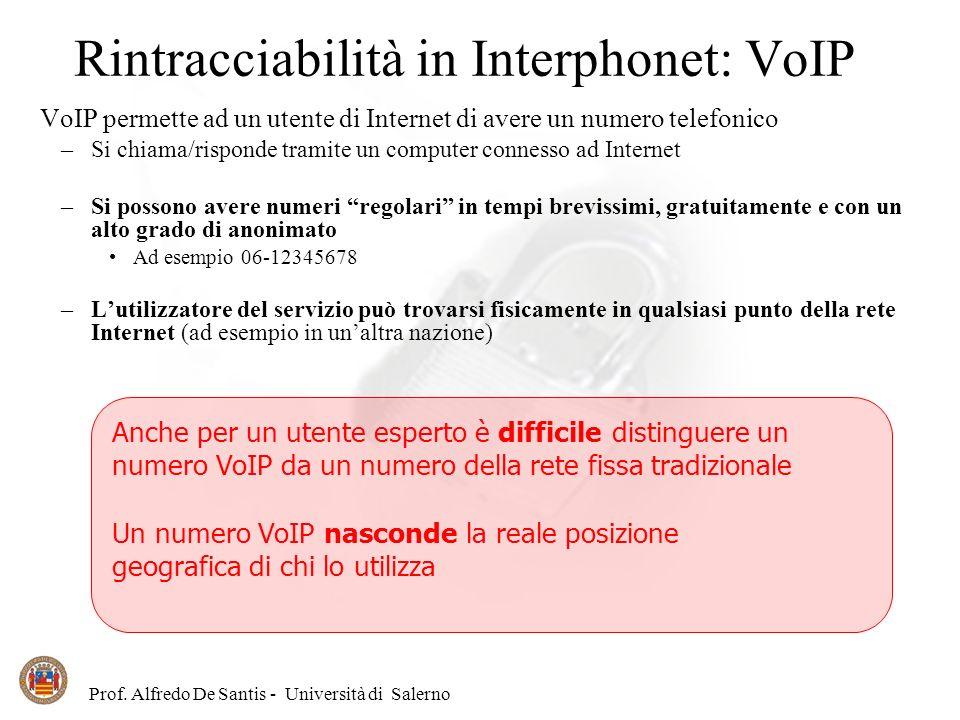 Rintracciabilità in Interphonet: VoIP