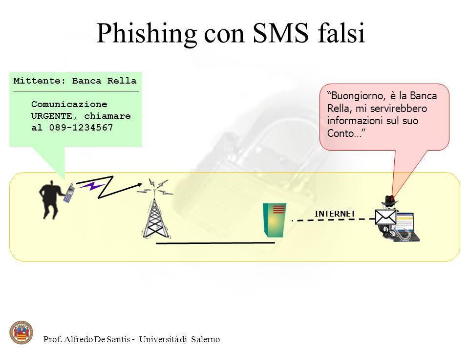 Phishing con SMS falsi Buongiorno, è la Banca Rella, mi servirebbero