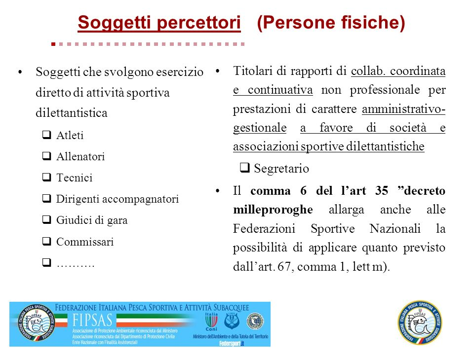 Soggetti percettori (Persone fisiche)